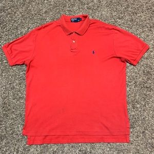 Polo by Ralph Lauren Red Polo Mens Size L Soft